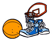 photo of basketball and shoes
