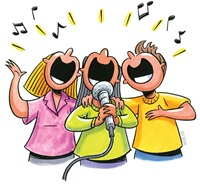 Sing Along cartoon image