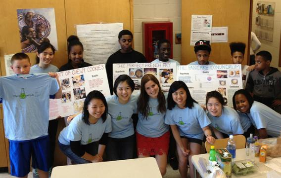 Area 4 youth at harvard food lab