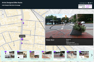 Artist Designed Bike Racks Story Map