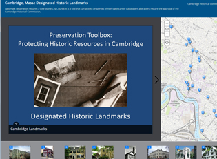 historic landmarks, story map, map, gis, historical