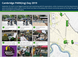 Cambridge PARKing Day 2019 Story Map