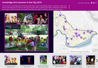 Summer in the City 2019 Story Map