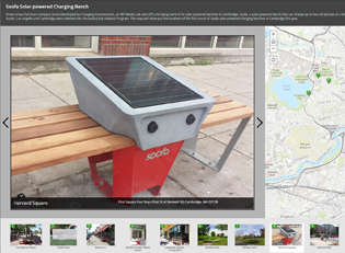 Story Map, Map Tour, soofa, benches, solar power, solar, smart urban furniture