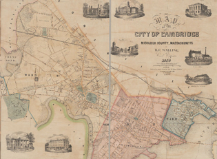 Historic Cambridge Map