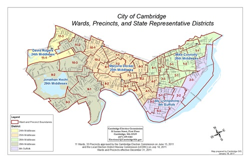 Election Maps GIS City Of Cambridge Massachusetts - Massachusetts us house of representatives district map