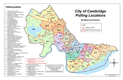 2018 Polling Location Map