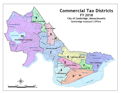 Fiscal Year 2018 Commercial Tax Districts Map
