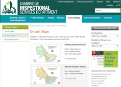 ISD, Inspectional Services Department, Map Gallery