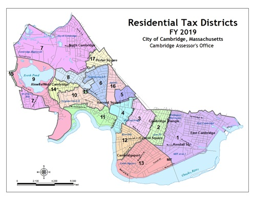 Cambridge Residential Tax District Map FY19
