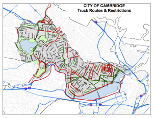 Traffic And Transportation Maps GIS City Of Cambridge - Truck route us map
