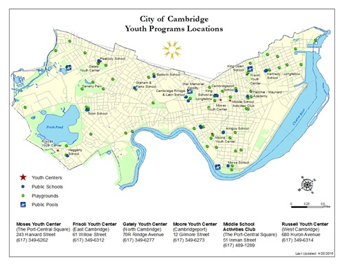 Cambridge Youth Services Map