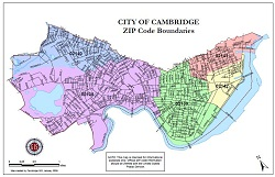 Cambridge Zip Code Map