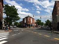 Intersection of Cambridge Street and Hampshire Street, Inman Square, Cambridge