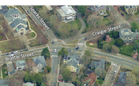 overhead ortho map of intersection