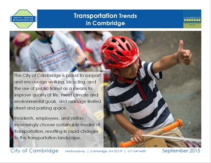 Transportation Trends page 1: Thank you for traveling sustainably!