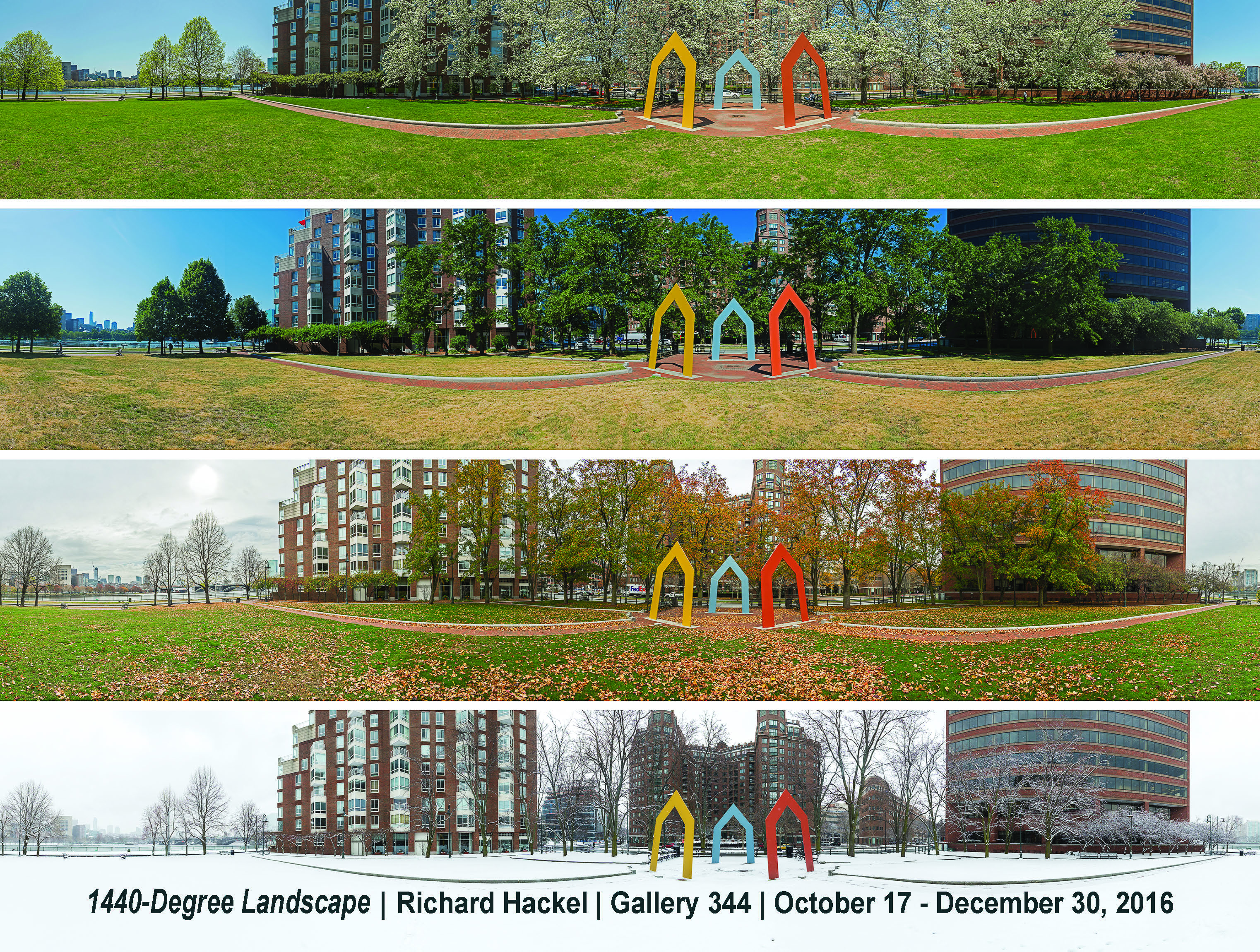 Richard Hackel's Panoramic Photography in different season with event date
