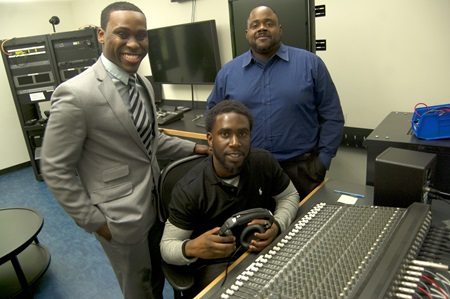 Loop Lab founders (from left) Moise Michel, Tyrie Daniel and Christopher Hope.