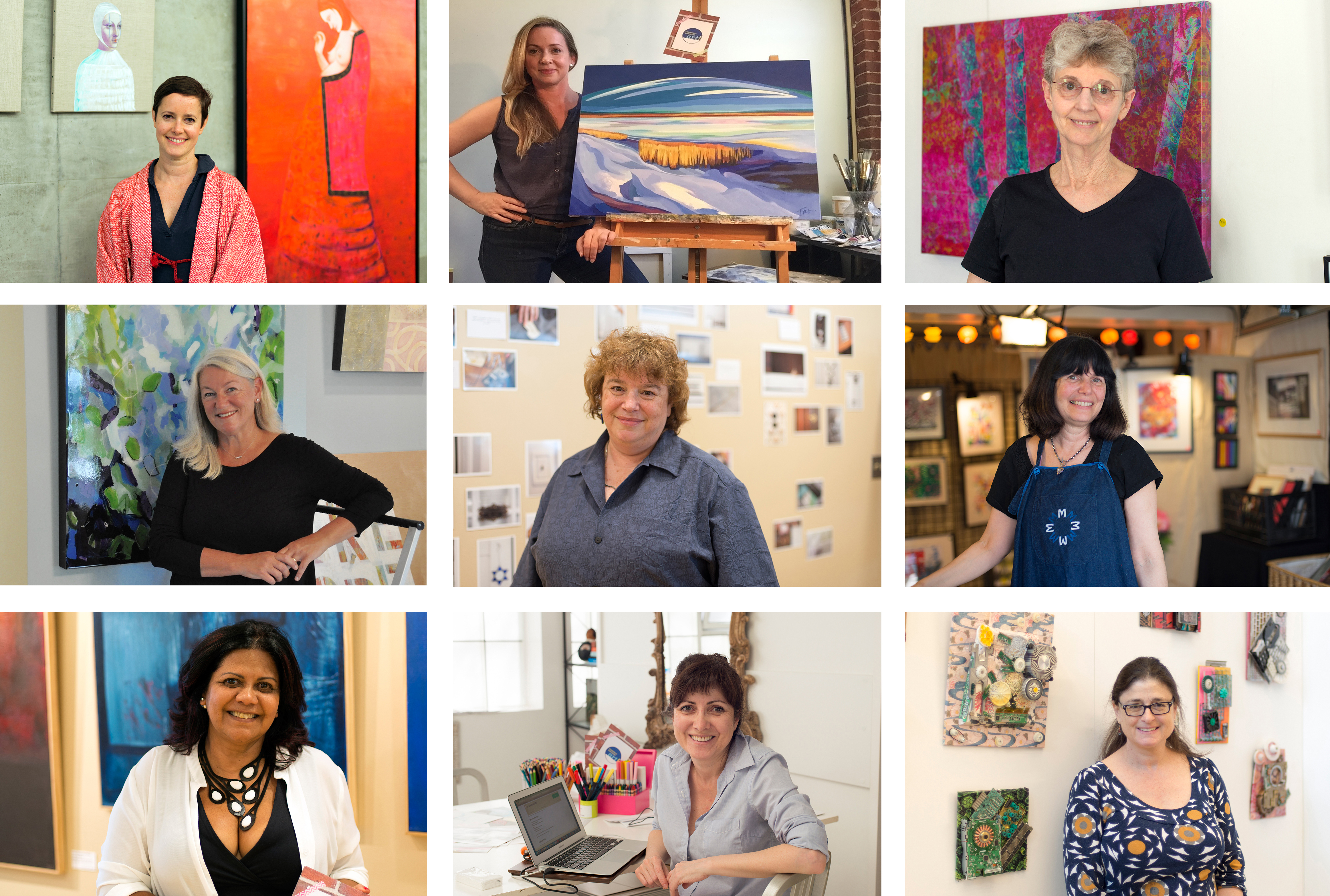 All artists who participated in the Community Supported Art program in 2016