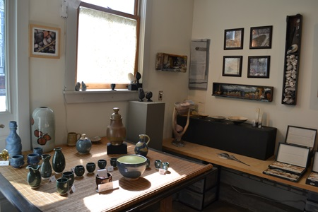 Variations of different artwork on display during Cambridge Open Studios.