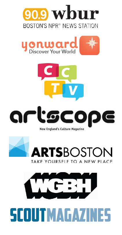 List of media sponsor logos for the 2017 Cambridge Arts River Festival