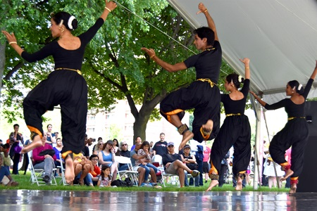 NATyA Dance Collective performs at the 2018 River Festival.