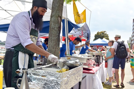 India Pavilion serves up lunch as one of the 2018 River Festival World of Food.