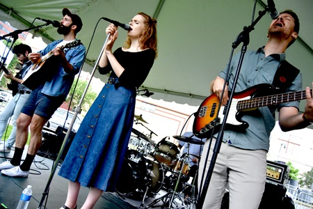 The Novel Ideas perform on the Folk & Roots Stage at the 2018 River Festival.