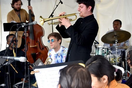 The Kevin Harris Project performs on the Jazz, R&B, & World Music Stage during the 2019 Cambridge Arts River Festival.