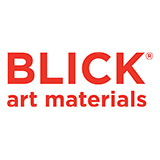 "The word ""Blick"" is written in all capital letters in large red font. Underneath it in all lowercase letters and smaller font is written ""art materials"""