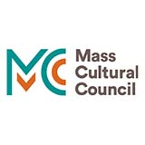 "Green and orange lines that look representative of the letters ""M"" and ""C"" are to the left of the words ""Mass Cultural Council"""