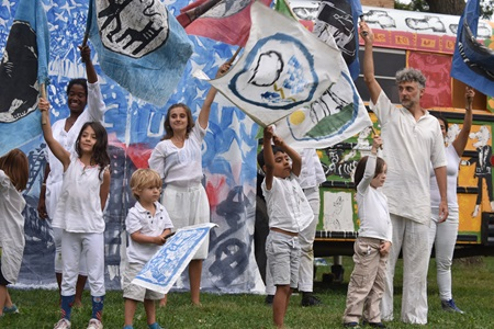 Bread and Puppet Theater performs its