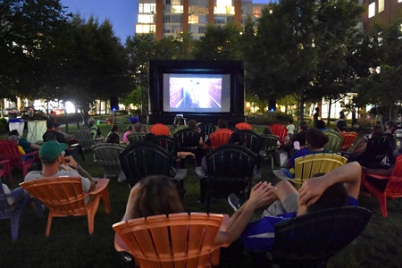 The Summer In The City movie night at University Park, Central Square, Aug. 28, 2018.