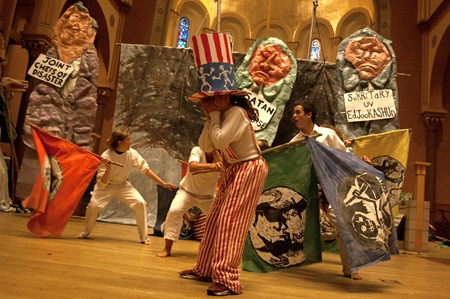 Bread and Puppet Theater performs its circus during Cambridge Arts' 2017
