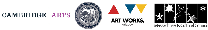 Logos for Cambridge Arts Council, Art Works, Mass Cultural Council