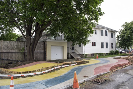 Colorful Concrete drying on Fern Street