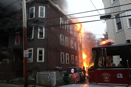 CFD Assists at 7 Alarm Somerville