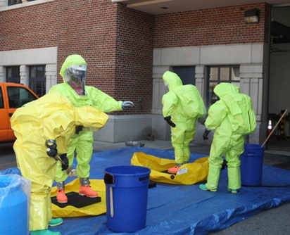 Hazmat incident at water department
