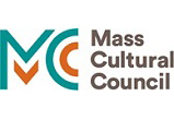 Mass Cultural Council color logo 159 pixels wide by 57 pixels high