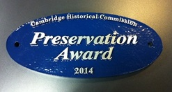 Preservation Award plaque