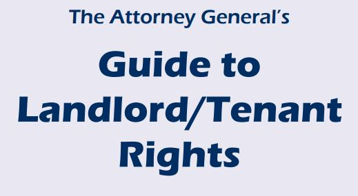 image for AG's Guide to Landlord/Tenant Rights