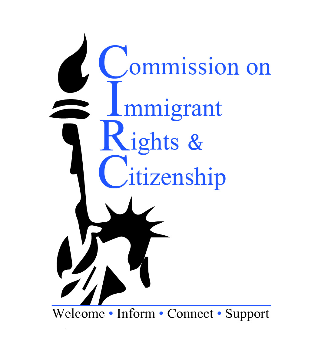 Commission on Immigrant Rights & Citizenship Logo