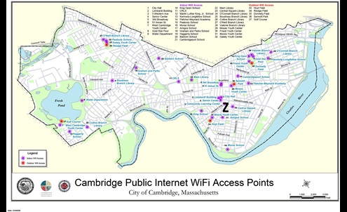 Map of CPI Access Points in Cambridge