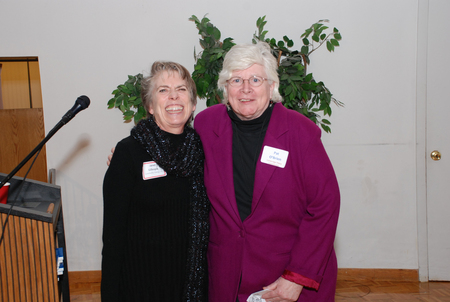 Awardee Janet Gillespie and Pat OBrien
