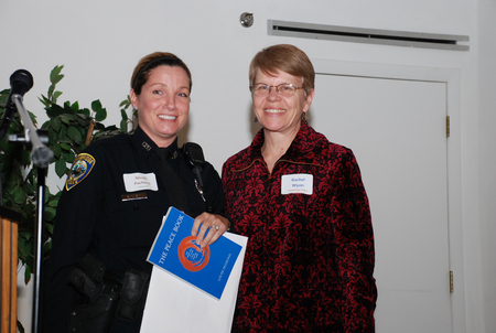 Awardee Officer Nicole Pacheco and Rachel Wyon