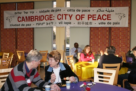 Cambridge: City of Peace banner