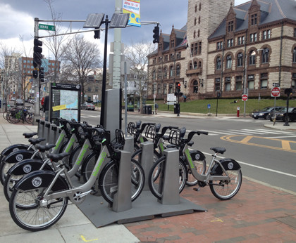 Hubway in Central Square