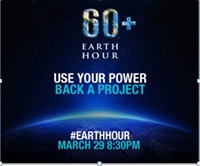 Earth Hour March 29, 2014, 8:30-9:30 p.m.