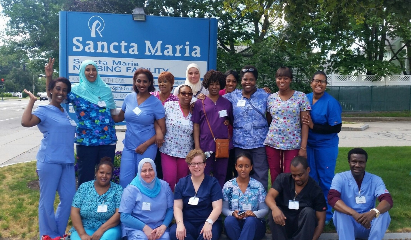Community learning center graduates 16 from cna training program bernadette charles sanons dream came true when the cambridge community learning center clc offered a certified nurse assistant cna training for english xflitez Choice Image