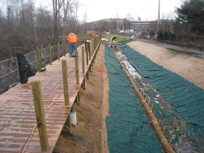 Boardwalk along Vegetated Swale_December 2012